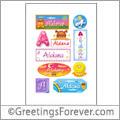 Aldana in stickers