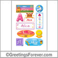Alice in stickers