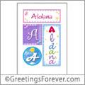 Name Aldana and initials