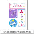 Name Alice and initials