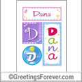 Name Dana and initials