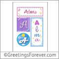 Name Alma and initials
