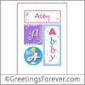 Name Abby and initials