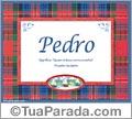 Significado e origem, Pedro