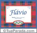 Significado e origem de Flavio