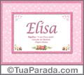 Significado e origem de Elisa