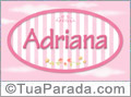 Nomes decorativo de bebê Adriana, para imprimir