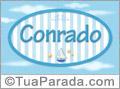 Nomes decorativo de bebê Conrado, para imprimir