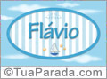 Nomes decorativo de bebê Flavio, para imprimir