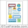Nomes Conrado en stickers