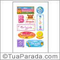 Nomes Brigida en stickers