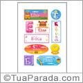 Nomes Elisa en stickers