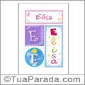 Nomes Elisa para imprimir em cartazes