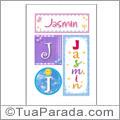Nomes Jasmin para imprimir em cartazes
