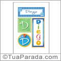 Nomes Diego para imprimir em cartazes