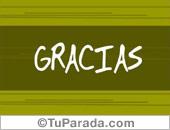 Gracias - Tarjetas postales: Gracias por la tarjeta
