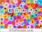 Gracias - Tarjetas postales: Tarjeta para agradecer