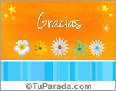 Tarjetas, postales: Gracias