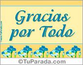 Gracias - Tarjetas postales: Gracias