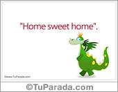 Tarjetas postales: Home sweet home