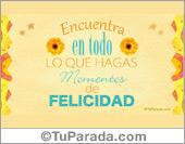 Frases para Facebook - Tarjetas postales: Momentos de felicidad