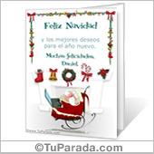 Tarjeta para imprimir de Navidad