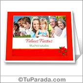 Tarjeta con fotos de Navidad - Para todos los dispositivos.