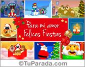 Tarjetas postales: Tarjeta de Navidad romántica