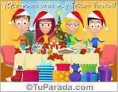 Tarjetas postales: Tarjeta de mesa navideña