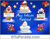 Tarjeta - Tarjeta animada alegre de Navidad