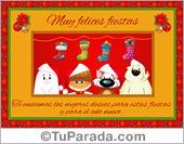 Tarjeta - Postal especial de Navidad