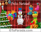 Tarjeta - Tarjeta de Navidad con muñeco de nieve