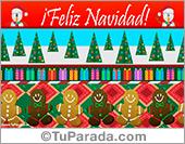 Tarjeta - Tarjeta de Navidad con adornos y animación