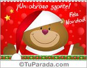Tarjetas postales: Tarjeta de Navidad con oso navideño