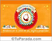 Tarjeta - Tarjeta de Navidad con Papá Noel
