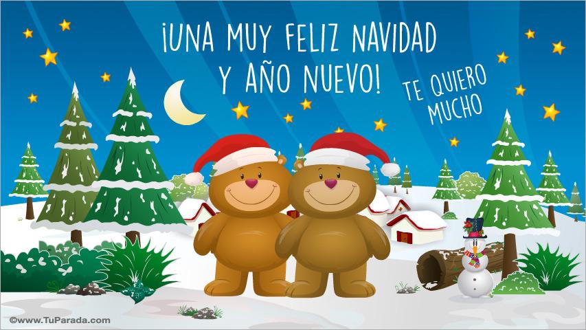 Tarjeta de navidad con ositos navidad tarjetas - Dibujos postales navidad ninos ...