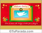 Tarjeta - Tarjeta de felicidades con paloma de la paz