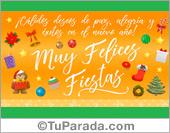 Cálidos deseos de paz, alegría y éxitos en el nuevo año.
