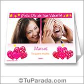 Tarjeta de San Valentín con fotos para imprimir