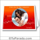 Tarjeta día de los enamorados para imprimir con fotos