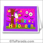 Tarjeta de Halloween para imprimir - Todos los dispositivos.