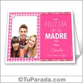 Tarjeta con foto para madres