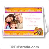 Tarjeta para imprimir de Pascua con fotos