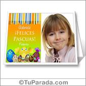 Tarjeta de Pascuas para imprimir con foto