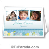 Tarjeta imprimible de Pascuas con fotos