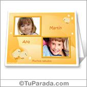 Tarjeta con fotos para imprimir