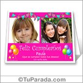 Tarjetas para imprimir de cumpleaños