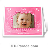 Tarjeta de nacimiento rosa - Para escritorio con Flash.
