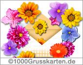 Push-ûp E-Card mit Blumen