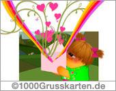 Push-ûp E-Card mit Regenbogen